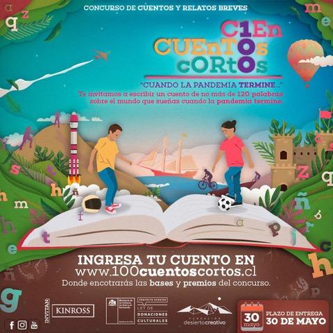 """Concurso """"100 Cuentos Cortos"""" supera las 500 historias y quedan últimos días para participar"""
